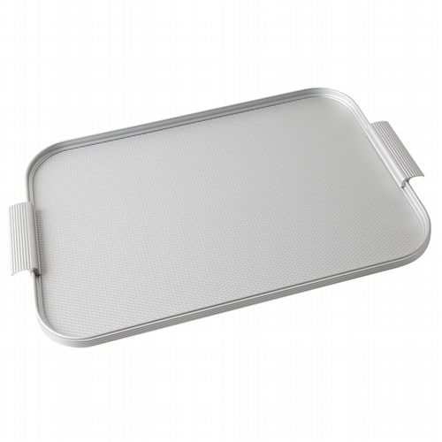 Kaymet Tray - Diamond Ribbed - Silver